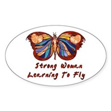 Strong Woman Learning To Fly Decal