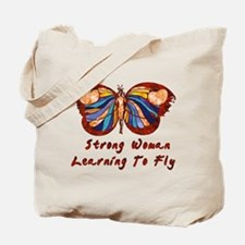 Strong Woman Learning To Fly Tote Bag