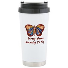 Strong Woman Learning To Fly Travel Mug