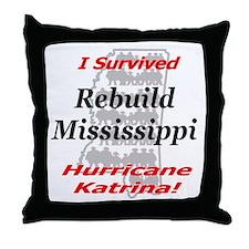 Rebuild Mississippi Throw Pillow