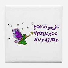 Domestic Violence Survivor Tile Coaster