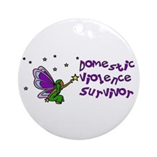 Domestic Violence Survivor Ornament (Round)