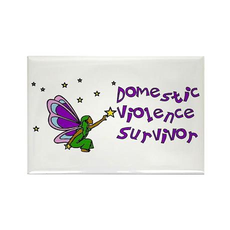 Domestic Violence Survivor Rectangle Magnet (10 pa
