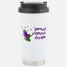 Domestic Abuse Angel Stainless Steel Travel Mug