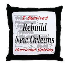 Rebuild New Orleans Throw Pillow