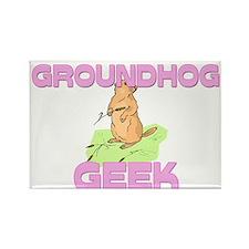 Groundhog Geek Rectangle Magnet