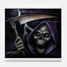 Halloween grim reaper Tile Coaster