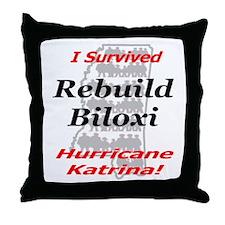 Rebuild Biloxi Throw Pillow