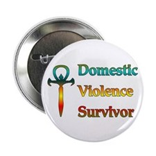 Domestic Violence Survivor Button