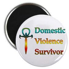 """Domestic Violence Survivor 2.25"""" Magnet (100 pack)"""