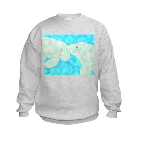 Manatee Pair Kids Sweatshirt