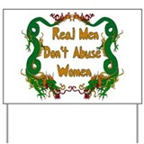 Stop domestic violence against women Yard Signs