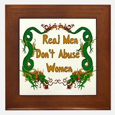 Ending Domestic Violence Framed Tile