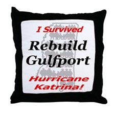 Rebuild Gulfport Throw Pillow