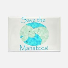 Save the Manatees Rectangle Magnet