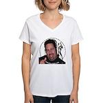 KeysDAN Logo and Face Women's V-Neck T-Shirt