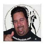 KeysDAN Logo and Face Tile Coaster