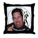 KeysDAN Logo and Face Throw Pillow