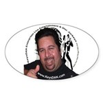 KeysDAN Logo and Face Oval Sticker (50 pk)