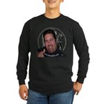 KeysDAN Logo and Face Long Sleeve Dark T-Shirt