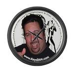 KeysDAN Logo and Face Large Wall Clock