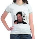 KeysDAN Logo and Face Jr. Ringer T-Shirt