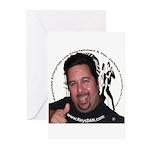KeysDAN Logo and Face Greeting Cards (Pk of 10)