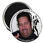 "KeysDAN Logo and Face 2.25"" Magnet (100 pack)"