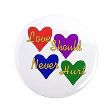 "End Domestic Violence 3.5"" Button (100 pack)"