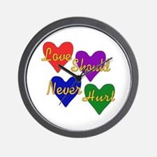 End Domestic Violence Wall Clock