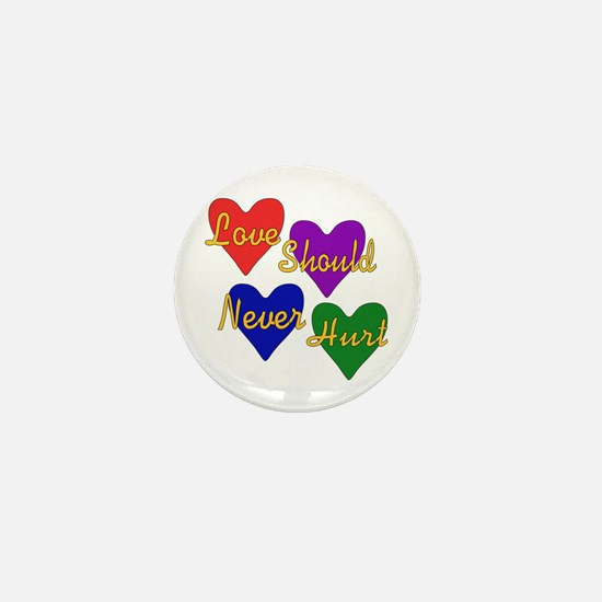 End Domestic Violence Mini Button
