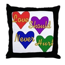 End Domestic Violence Throw Pillow