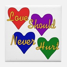 End Domestic Violence Tile Coaster