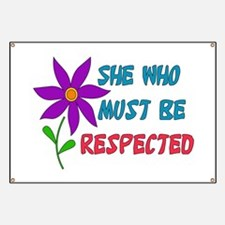 She Who Must Be Respected Banner