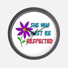 She Who Must Be Respected Wall Clock