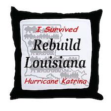 Rebuild Louisiana Throw Pillow