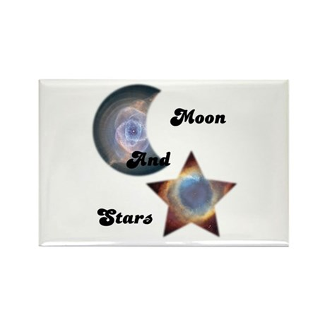 MOON AND STARS Rectangle Magnet (10 pack)