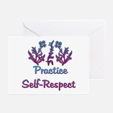 Practice Self-Respect Greeting Cards (Pk of 10