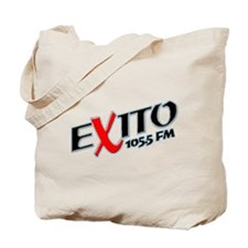 Radio Exito Logo Angled (Blac Tote Bag