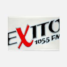Radio Exito Logo Angled (Blac Rectangle Magnet (10