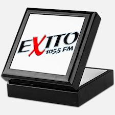Radio Exito Logo Angled (Blac Keepsake Box