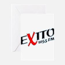Radio Exito Logo Angled (Blac Greeting Cards (Pk o