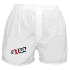 Radio Exito Logo Angled (Blac Boxer Shorts
