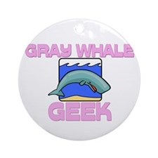Gray Whale Geek Ornament (Round)