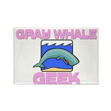 Gray Whale Geek Rectangle Magnet