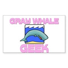 Gray Whale Geek Rectangle Sticker