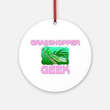 Grasshopper Geek Ornament (Round)