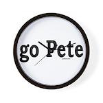 go Pete Wall Clock
