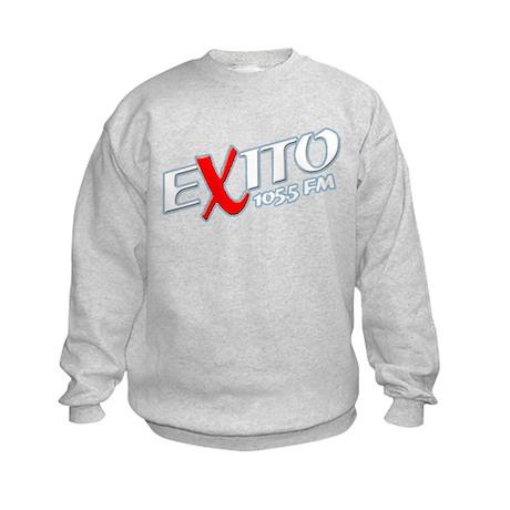 Radio Exito Logo Angled (Whit Kids Sweatshirt