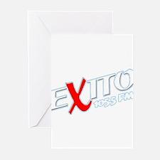 Radio Exito Logo Angled (Whit Greeting Cards (Pk o
